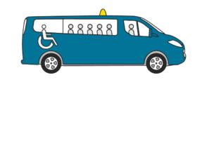 Aangepaste taxi